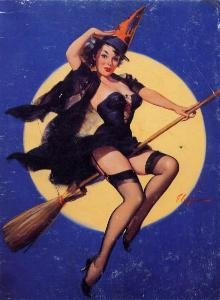 sexy vintage witch