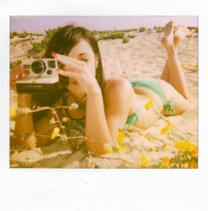 polaroid beach girl