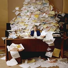 moutain of paperwork