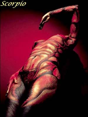 Scorpio Body Art