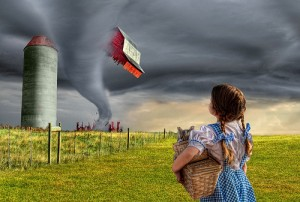 dorothy and the tornado
